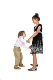 Brother and sister dancing Stock Photos