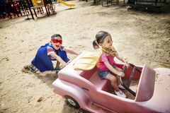 Brother Sister Elementary Childhood Kid Playful Concept Stock Image