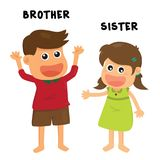 Brother sister family Royalty Free Stock Photos