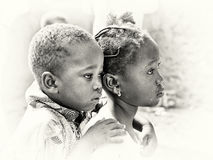 Brother and sister from Ghana Royalty Free Stock Image