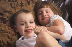 Brother and Sister Having Fun Royalty Free Stock Photo