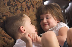 Brother and Sister Having Fun Royalty Free Stock Images