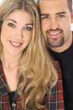 Brother and sister headshot Royalty Free Stock Photos