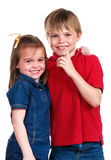 Brother And Sister Hug Royalty Free Stock Images