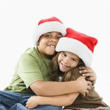 Brother and sister hugging, Stock Photos