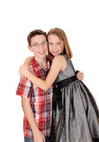 Brother and sister hugging. Royalty Free Stock Images