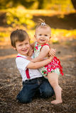 Children hugging Royalty Free Stock Photography