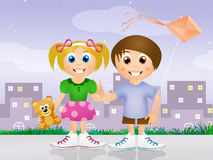 Brother and sister. Illustration of brother and sister stock illustration