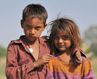 Brother and sister. India Royalty Free Stock Photo