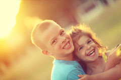 Brother and sister love Stock Photography