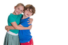 Brother and Sister love. Brother and sister hugging each other with different expressions Stock Photography
