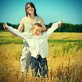 Brother and Sister outdoor Royalty Free Stock Photography