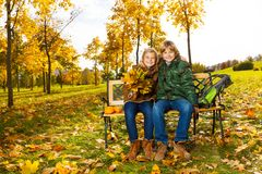 Brother and sister in the park Stock Photography