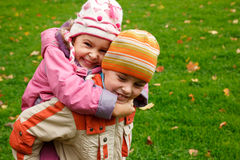 Brother and sister play Stock Photography