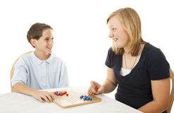 Brother and Sister Play Together Stock Photography