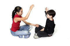 Brother and sister playing Royalty Free Stock Photography