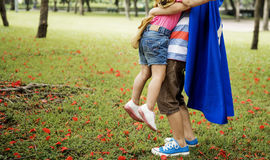 Brother Sister Playing Happiness Cheerful Concept Stock Image