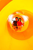 Brother and sister playing playground Stock Photography