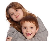 Brother and sister posing for a picture Stock Images
