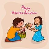 Brother and sister for Raksha Bandhan celebration. Royalty Free Stock Image