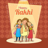 Brother and sister for Raksha Bandhan celebration. Royalty Free Stock Photography