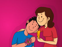 Brother and sister for Raksha Bandhan celebration. Stock Photography