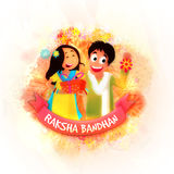 Brother and Sister for Raksha Bandhan. Royalty Free Stock Photography