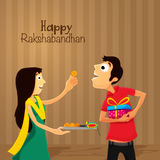 Brother and Sister for Raksha Bandhan. Royalty Free Stock Images