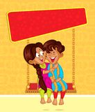 Brother and Sister in Raksha Bandhan Royalty Free Stock Photo