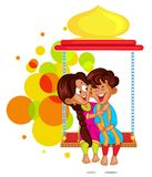 Brother and Sister in Raksha Bandhan Royalty Free Stock Photos