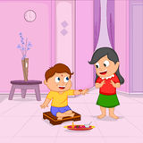 Brother and Sister in Raksha Bandhan Royalty Free Stock Images