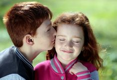 Brother, Sister, Red Hair, Freckles Royalty Free Stock Image