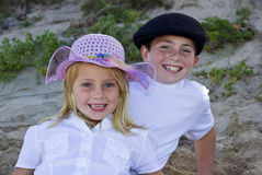 Brother and sister smiling Royalty Free Stock Photos