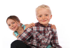 Brother And Sister Smiling Royalty Free Stock Photo
