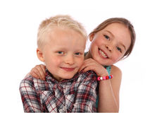 Brother And Sister Smiling Royalty Free Stock Image