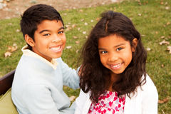 Brother and sister smiling and laughing. Stock Photography