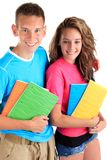 Brother and sister students Stock Photos