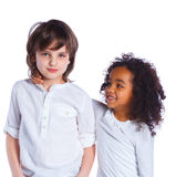 Brother and sister in the studio Stock Photos