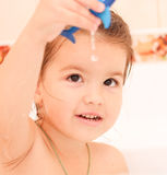 Brother and sister. Taking a bubble bath Royalty Free Stock Photography