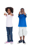Brother and sister with thumbs up Royalty Free Stock Photography