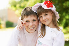 Brother and sister together Royalty Free Stock Photos