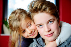 Brother and sister together Royalty Free Stock Photography
