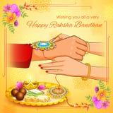 Brother and Sister tying rakhi on Raksha Bandhan. Illustration of brother and sister tying rakhi on Raksha Bandhan Royalty Free Stock Photos