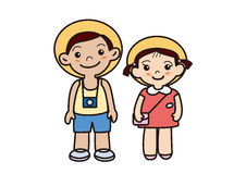 Brother of the summer vacation Stock Photo