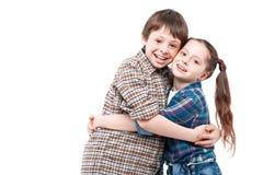 Brother y abarcamiento de la hermana Foto de archivo libre de regalías