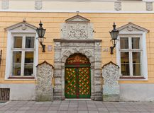 Brotherhood of the Blackheads house in Tallinn, Es Royalty Free Stock Images