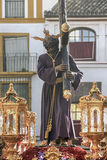 Brotherhood of Christ of the Gypsies, Semana Santa in Seville. Step of mystery of the brotherhood of the gypsies through the streets of Seville in its holy week Stock Image