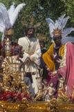 Brotherhood del卡门Painful圣周在塞维利亚 图库摄影