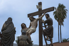 Brotherhood of the Holy Christ of the descent, work of the Spanish sculptor Victor de los Rios, Linares, Jaen province, Andalusia, Stock Image