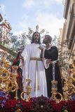 Brotherhood of the kiss of Judas, Holy Week in Seville, Spain Royalty Free Stock Photography